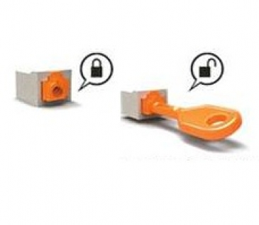Azrj45jlp 10 Lock Jack With Proprietary Key Azco